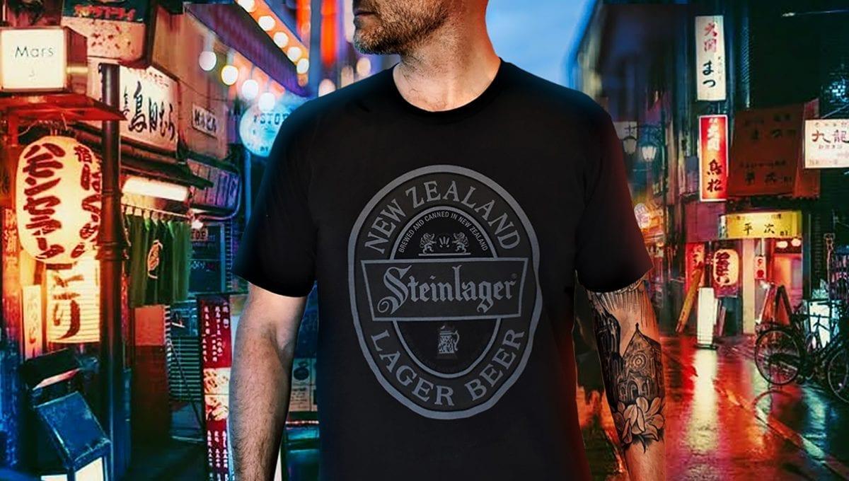 Steinlager Black Tee